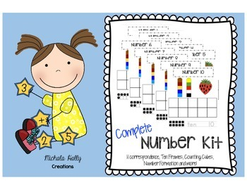 Number Kit - Ten Frames, 1:1 Correspondence, Number Format