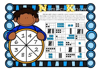 Number Know ~ recognising numbers up to 8 (tally marks, ten frames, Base 10)