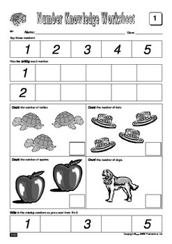 Number Knowledge - Book 1 FREE Sample Worksheets
