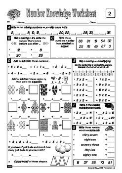 Number Knowledge - Book 3 FREE Sample Worksheets