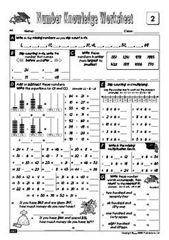 Number Knowledge - Book 5 FREE Sample Worksheets