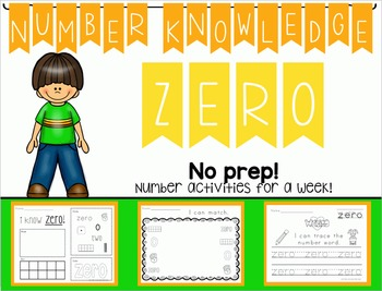 Number Knowledge: Number 0 (NO PREP!)