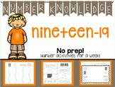 Number Knowledge: Number 19 (NO PREP!)