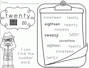 Number Knowledge: Number 20 (NO PREP!)