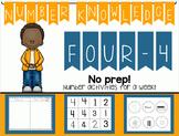Number Knowledge: Number 4 (NO PREP!)