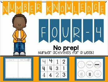 Number Knowledge: Number 4 (NO PREP!)