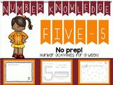 Number Knowledge: Number 5 (NO PREP!)