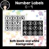 Number Labels 0 - 9