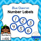 Number Labels 1-100 ~ Blue Chevron