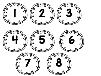Number Labels (1-24)
