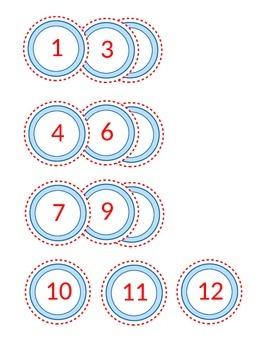 Number Labels 1-24