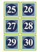 Number Labels 1-30