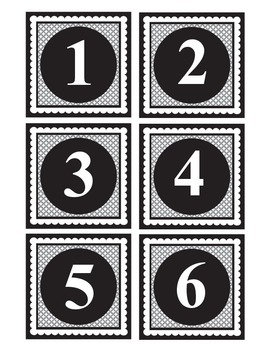 Number Labels 1-30