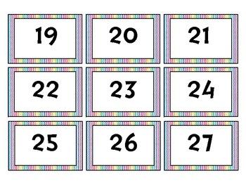 Number Labels 1-30 {freebie}