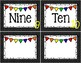 Number Word Labels
