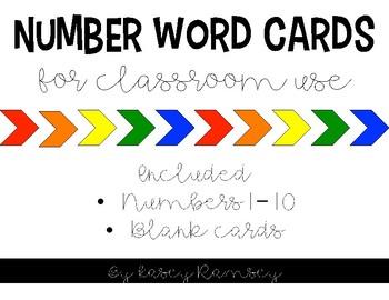 Number Word Labels