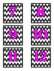 Number Labels- Chevron with Pink