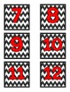 Number Labels- Chevron with Red