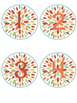 Number Labels Flower Theme 1-30