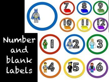 Number Labels: Building Blocks Theme