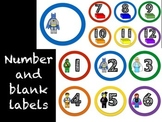Number Labels: Building Blocks Theme