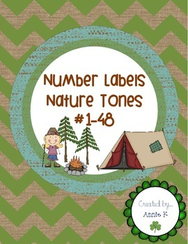 Number Labels-- Nature Themed