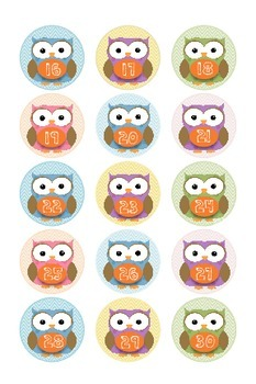Number Labels {Owl Theme}