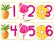Number Labels {Pineapple and Flamingo}