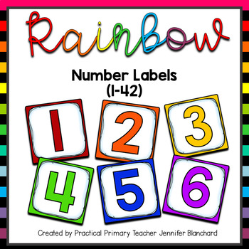 Number Labels Rainbow