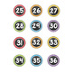 Number Labels - Small - Chalkboard and Pastel - Numbers 1-36