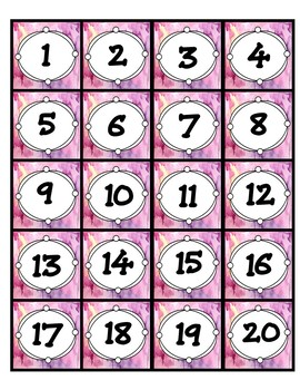 Number Labels-Watercolor Themed- Pre-made AND Editable!