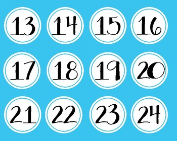 Number Labels for Classroom Management