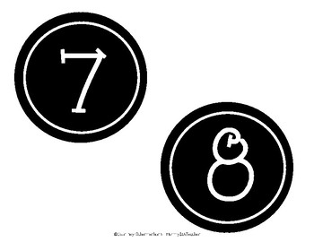 {FREEBIE!} Number Labels for Stations, Centers, Math Bulletin Board