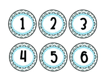 Number Labels for the Classroom