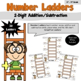 Number Ladders using 2 Digit Addition and Subtraction