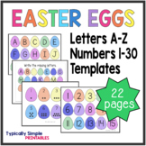 Number and Letter Easter Eggs