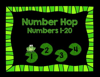Number Lily Pads-  Numbers to 20