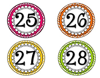 Number Line Cards to 100 & 120  {Polka Dot & Chevron}