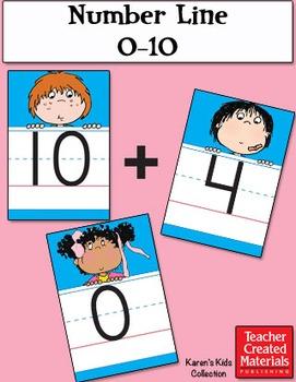 Number Line 0-10 by Karen's Kids (Digital Download)