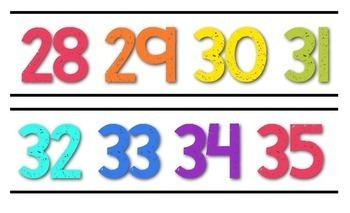 Number Line 0-120 {White Series}