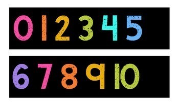 Number Line 0-120 {Black Series}