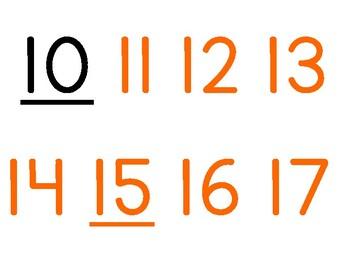 Number Line 0-120