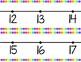 Number Line 0-120 Multi Colored Polka Dot