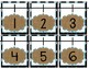 Number Line (0-120) Turquoise, Burlap, and Black and White Dots