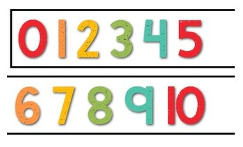 Number Line 0-120 {White Carnival Series}