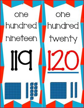 Number Line 0-120 with Base Ten Blocks
