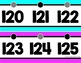 Number Line (0-125) - Bright Solids