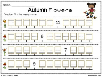 Number Line {Fall Theme}