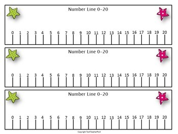 It's just an image of Fabulous Number Line to 20 Printable