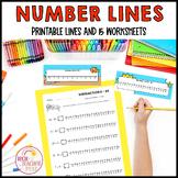 Number Lines 0 to 20 Unicorns Stars Construction Pirates F